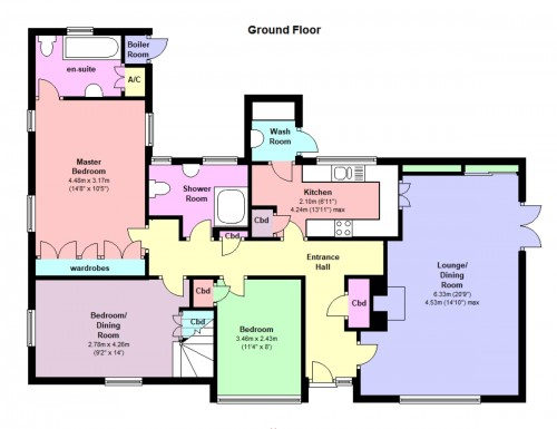 Floorplan for Lower Seagry, Chippenham