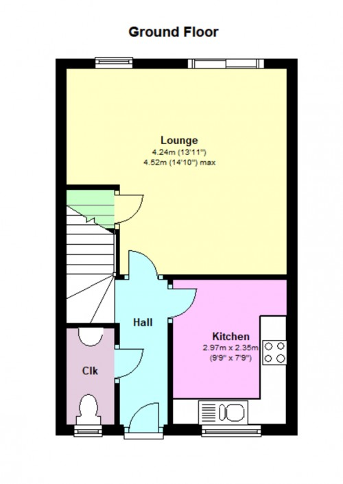 Floorplan for Foxgrove, Cepen Park North, Chippenham