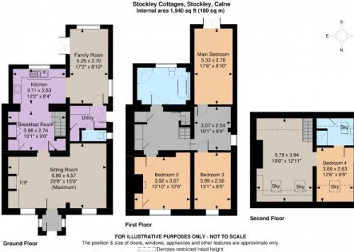 Floorplan for Stockley Cottages, Stockley, Calne